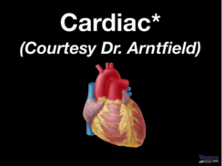 Cardiac (chapters with * should be reviewed for rotation)
